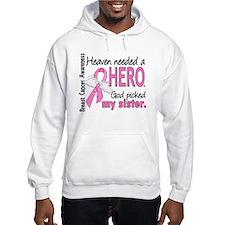 Heaven Needed a Hero Breast Cancer Hoodie