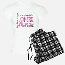 Heaven Needed a Hero Breast Cancer Pajamas
