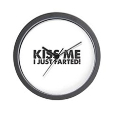 Kiss me I Just Farted Wall Clock