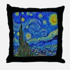 Van Gogh's Starry Night Throw Pillow