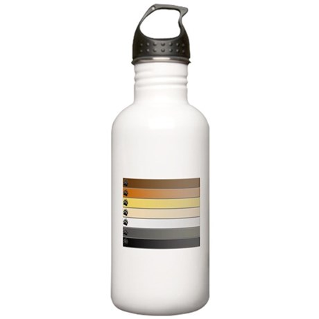 Bear Paw Stripes Stainless Water Bottle 1.0L