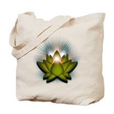 "Green ""Heart"" Chakra Lotus Tote Bag"