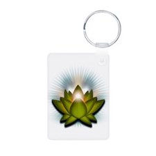 "Green ""Heart"" Chakra Lotus Keychains"