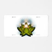 "Green ""Heart"" Chakra Lotus Aluminum License Plate"