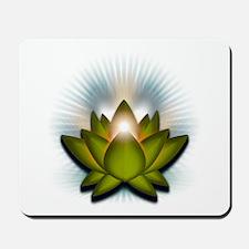 """Green """"Heart"""" Chakra Lotus Mousepad"""