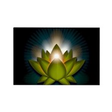 "Green ""Heart"" Chakra Lotus Rectangle Magnet"