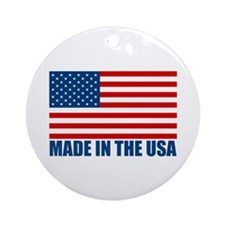 Made in the USA Ornament (Round)