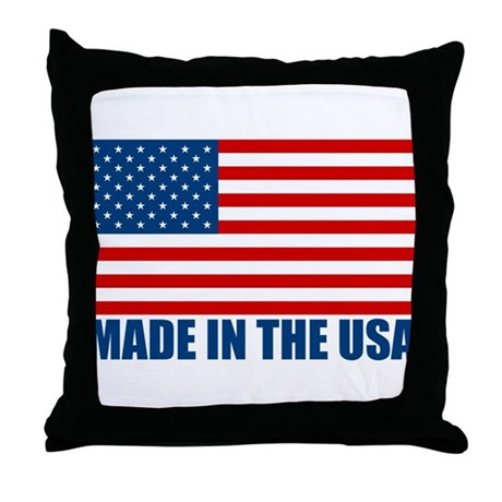 Decorative Pillows Made In Usa : Made in the USA Throw Pillow by Rudearseshirts