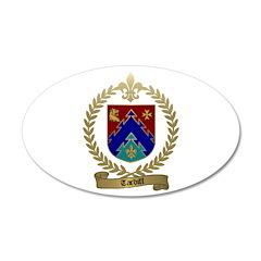 TARDIFF Family Crest 22x14 Oval Wall Peel