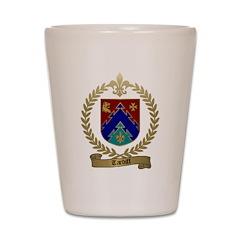TARDIFF Family Crest Shot Glass