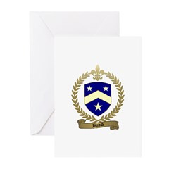 BUJOLD Family Crest Greeting Cards (Pk of 20)