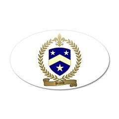 BUJOLD Family Crest 22x14 Oval Wall Peel