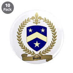 """BUJOLD Family Crest 3.5"""" Button (10 pack)"""
