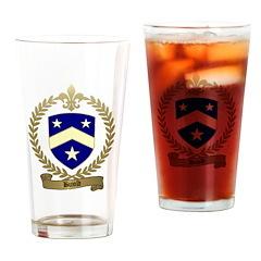 BUJOLD Family Crest Drinking Glass