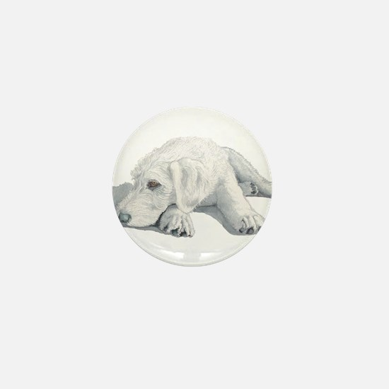 Sleepy Labradoodle Pup Mini Button