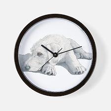 Sleepy Labradoodle Pup Wall Clock