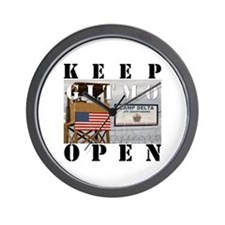 Keep GITMO Open Wall Clock