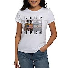 Keep GITMO Open Women's Tee