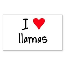 I LOVE Llamas Decal