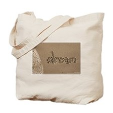 Sand Script 'dream' Beach Bag