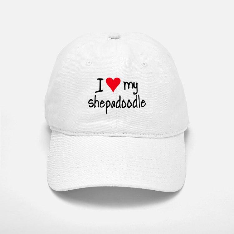 I LOVE MY Shepadoodle Baseball Baseball Cap