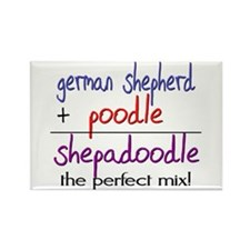 Shepadoodle PERFECT MIX Rectangle Magnet