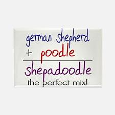 Shepadoodle PERFECT MIX Rectangle Magnet