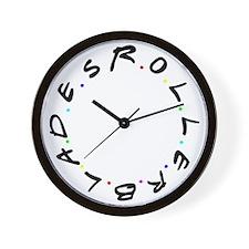 Rollerblades Wall Clock