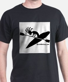 kayaking 2000X2000 black on white T-Shirt