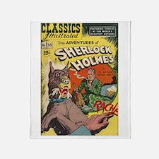 The Adventures of Sherlock Holmes Throw Blanket