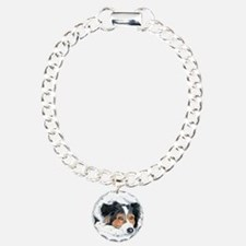 Border Collie Mattie Charm Bracelet, One Charm