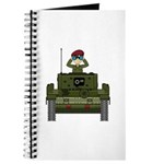 Cute Army Soldier in Tank Journal