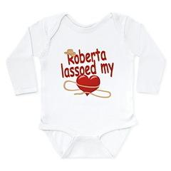 Roberta Lassoed My Heart Long Sleeve Infant Bodysu