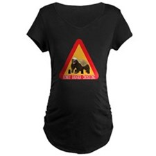 Honey Badger Crossing Sign T-Shirt