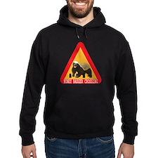 Honey Badger Crossing Sign Hoodie