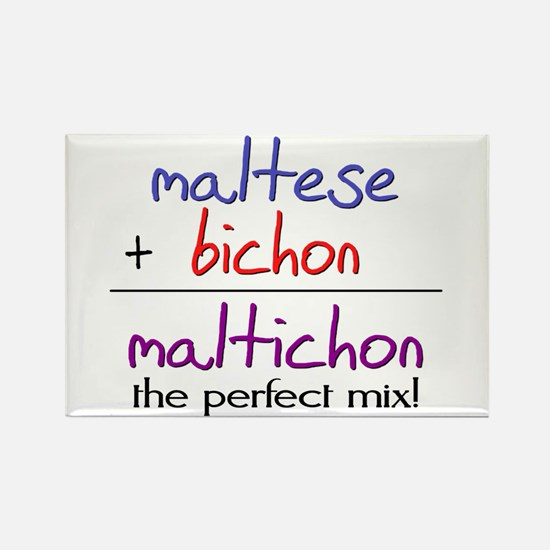 Maltichon PERFECT MIX Rectangle Magnet