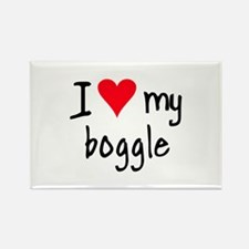 I LOVE MY Boggle Rectangle Magnet