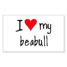 I LOVE MY Beabull Decal