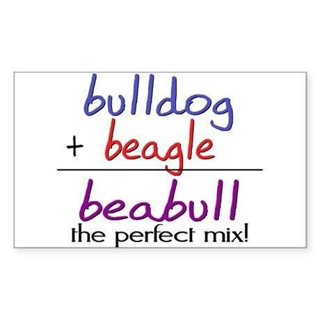 Beabull PERFECT MIX Sticker (Rectangle)