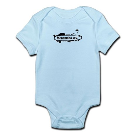 "Menemsha MA ""Surf"" Design. Infant Bodysuit"