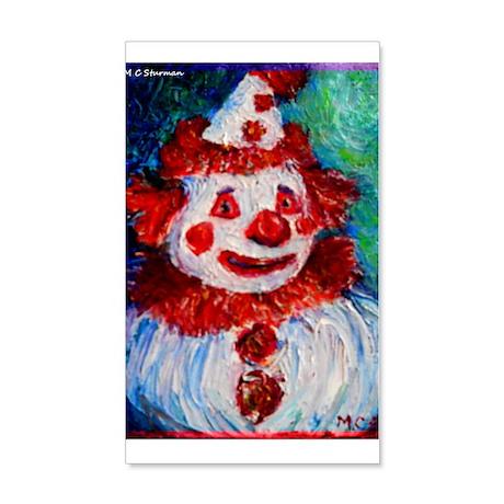 Clown, bright, fun, art! 22x14 Wall Peel