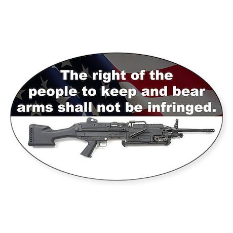 2nd Amendment - M249 SAW - 5x3 Oval Sticker
