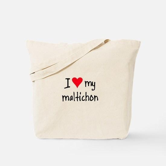 I LOVE MY Maltichon Tote Bag