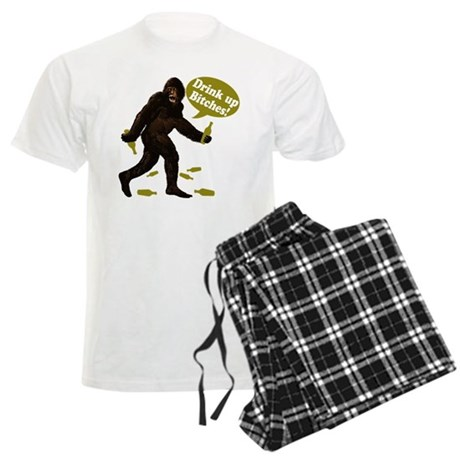 Drink Up Bitches Bigfoot Men's Light Pajamas