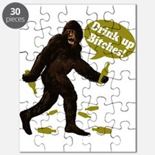 Drink Up Bitches Bigfoot Puzzle