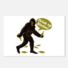 Drink Up Bitches Bigfoot Postcards (Package of 8)