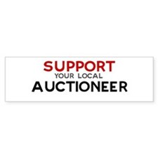 Support: AUCTIONEER Bumper Bumper Sticker