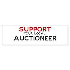 Support: AUCTIONEER Bumper Car Sticker