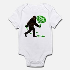 Happy St Patricks Day Bigfoot Infant Bodysuit