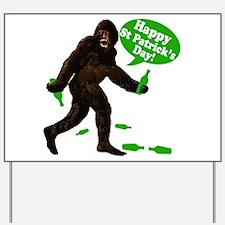 Happy St Patricks Day Bigfoot Yard Sign